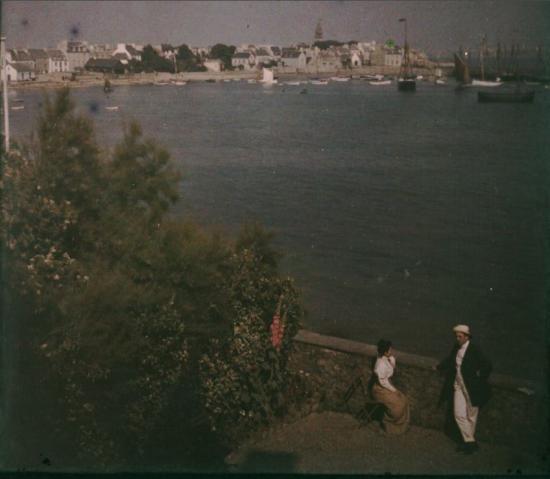 Une photo colorisée de Roscoff en 1909